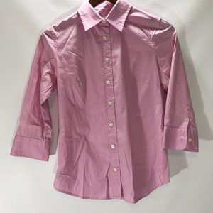 J Crew Top Haberdashery Refined Stretch Button Up